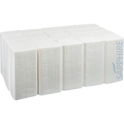 Z Fold White Hand Towels