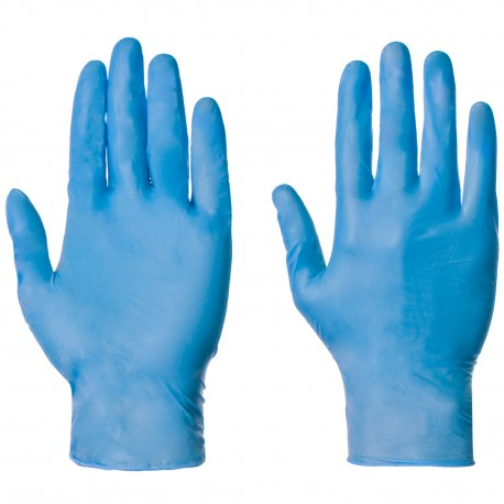 NITRILE GLOVES POWDERED